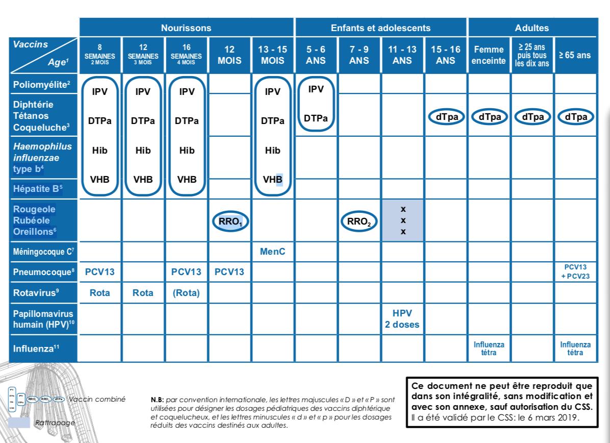 Calendrier Des Vaccinations Et Recommandations Vaccinales 2019.Rougeole Le Css Abaisse L Age D Administration Du Deuxieme